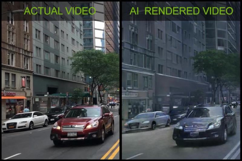 NVIDIA cria mundo virtual renderizado por IA