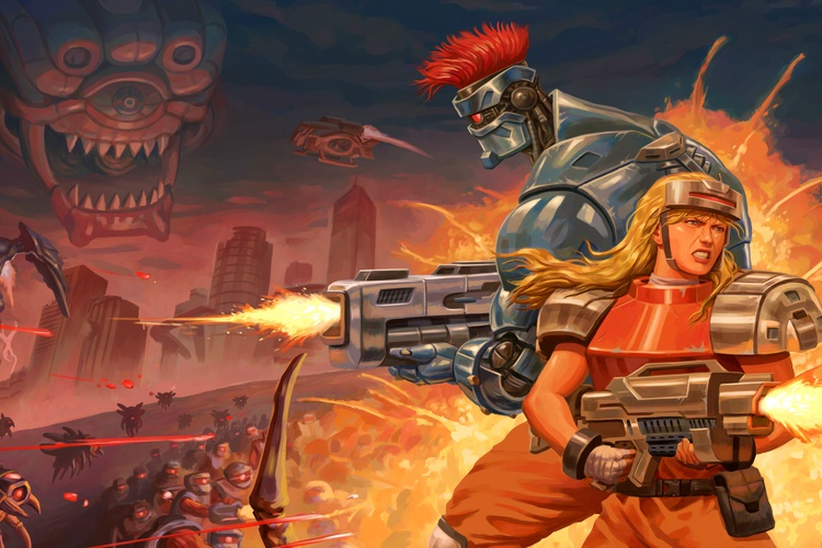 Blazing Chrome vai salvar a humanidade no XBox One